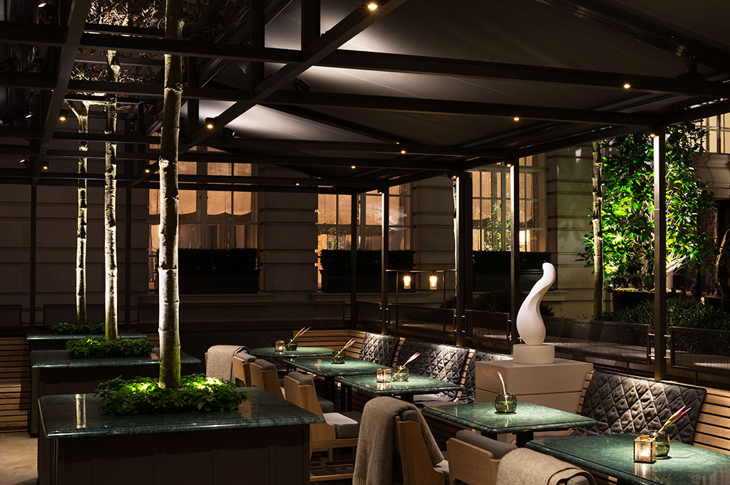 led lighting in the rosewood hotel