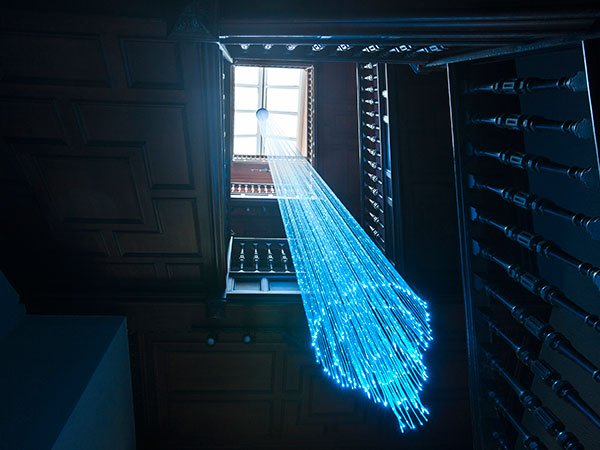custom fiber optic chandelier range