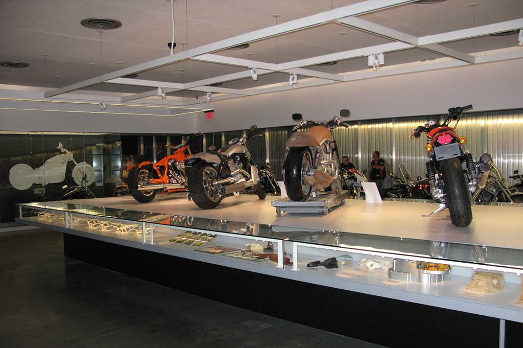 fiber optic lighting in the harley davidson museum