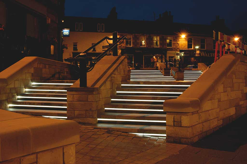 fiber optic lighting in melrose town centre & Fiber Optic Lighting - Outdoor Lighting Projects