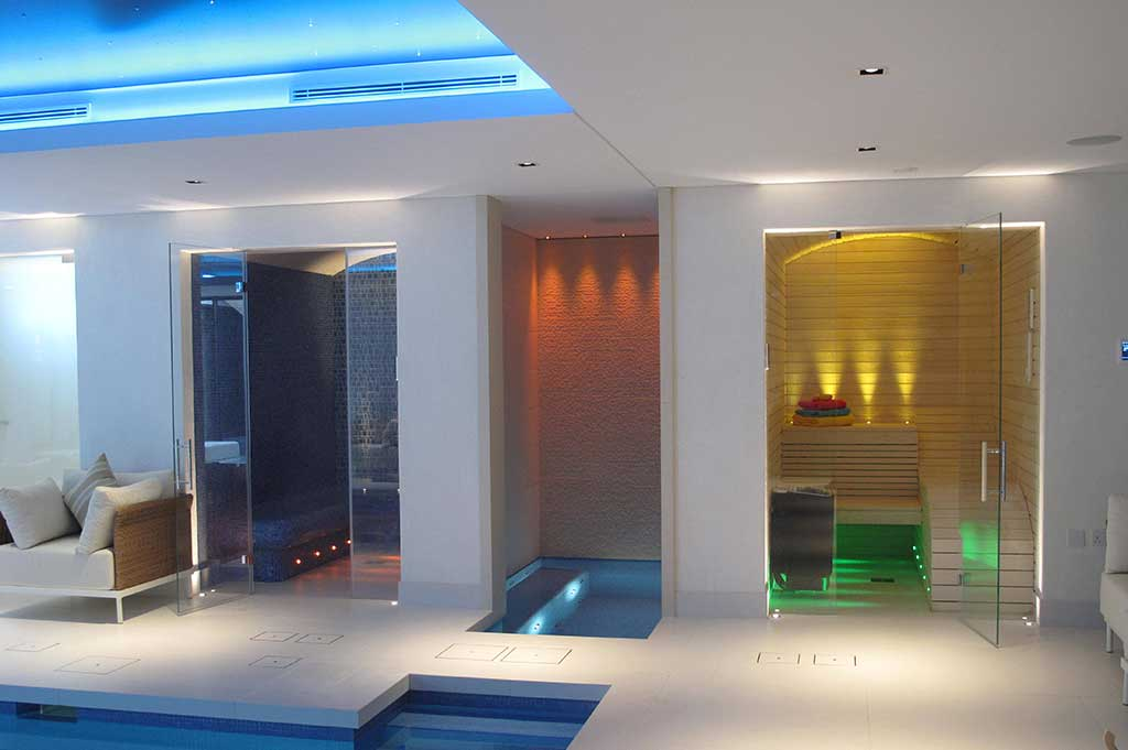 fiber optic lighting in private pool - 1