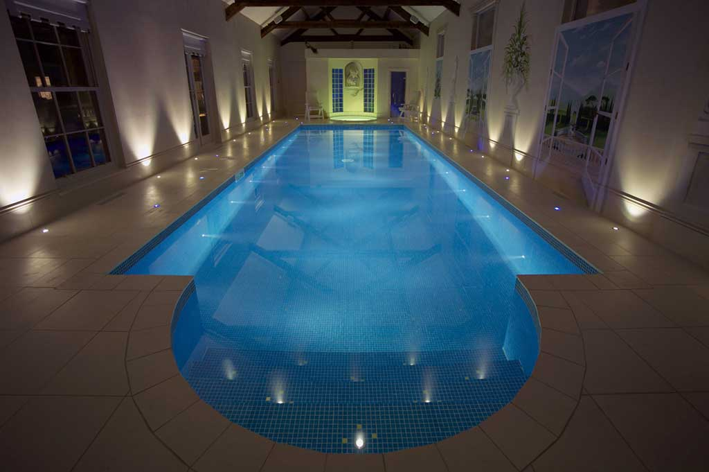 fiber optic lighting in private pool - 3