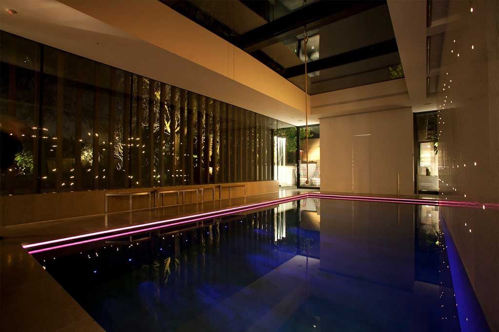 fiber optic lighting in private pool - 4