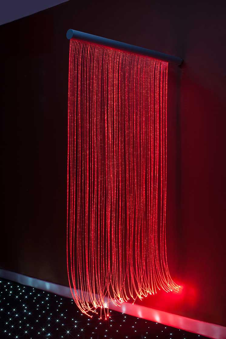 Sensory Fiber Optics Sensory Wall Cascade