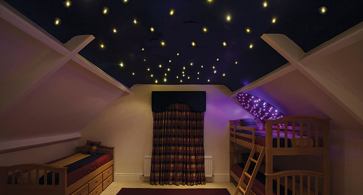 Fiber optic lighting star effect ceilings create your own magical star ceiling with our self install fiber optic kit aloadofball Gallery